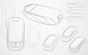Design-Skizzen aus der Konzeptionsphase
